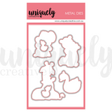 Fussy Cutting Metal Die to Match the Hey Mama Photopolymer Stamp Set