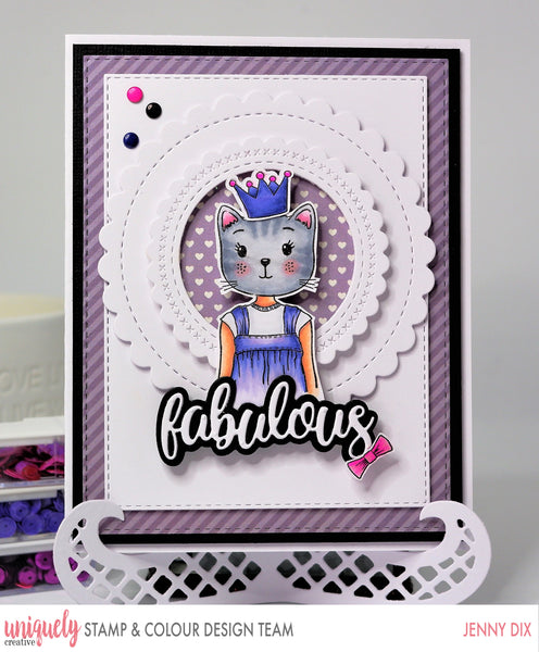 Cute card making idea for a stamped image