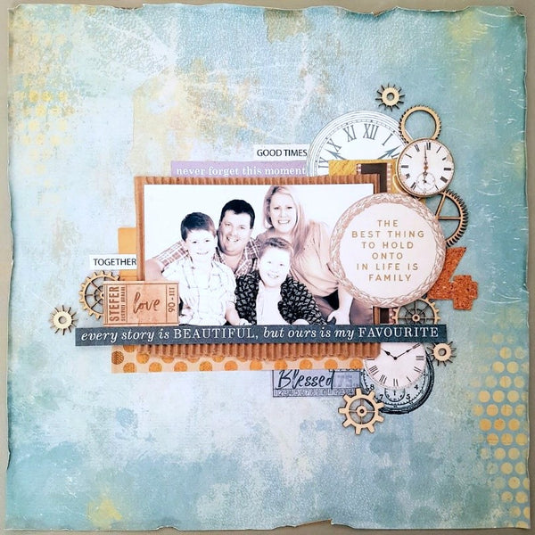 Scrapbooking a family with teenage boys