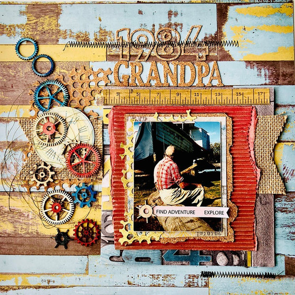 Scrapbooking an older man - i.e. a grandpa