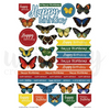 Butterfly Birthday Cut-a-part Sheet