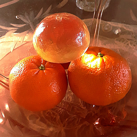 Glossy Clementine Fruit Bowl