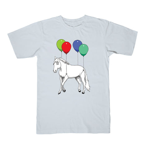 ParkerGames - Horse Tee - Light Blue