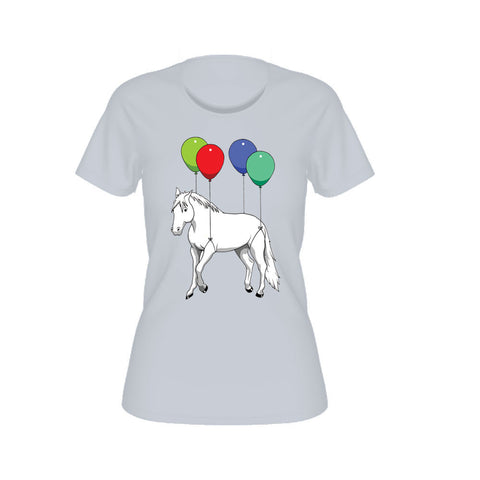 ParkerGames - Horse Women's Tee - Light Blue