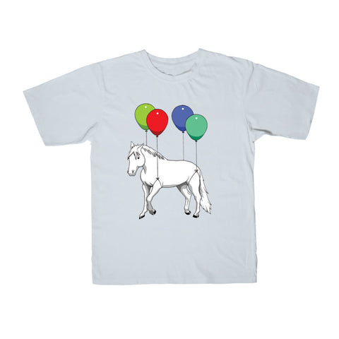 Parkergames - Horse Kid's Tee - Light Blue