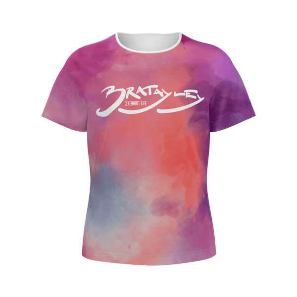 Bratayley - All-Over Watercolor Girls' Tee