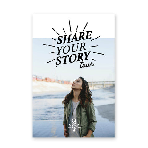 "Alex G - ""Share Your Story"" Tour Poster"