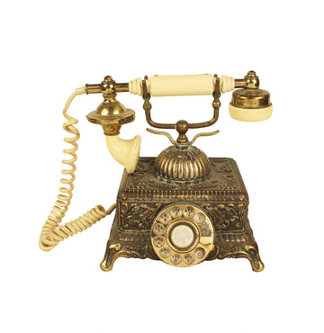 Gilded Rotary Phone