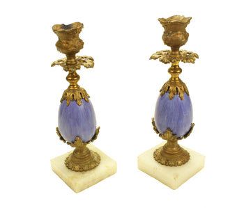 Purple Egg Candlesticks
