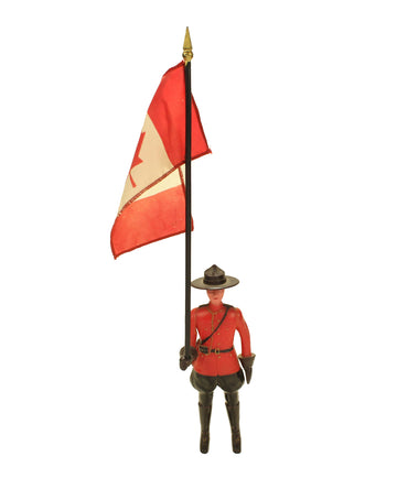 Mountie with Canadian Flag