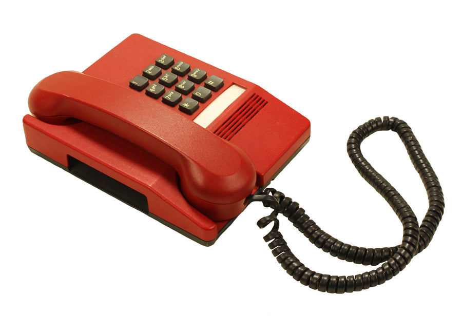 Red Touch Tone Phone