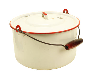 White Enamel Pot