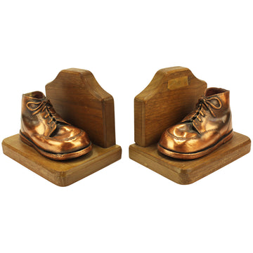 Copper Shoe Bookends
