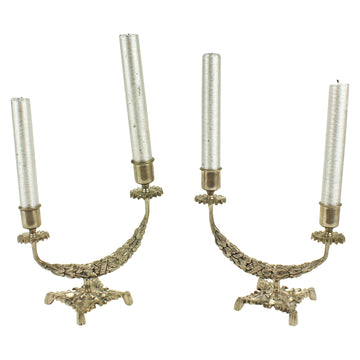 Double Silver Candlesticks
