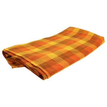 Orange Checkered Tablecloth