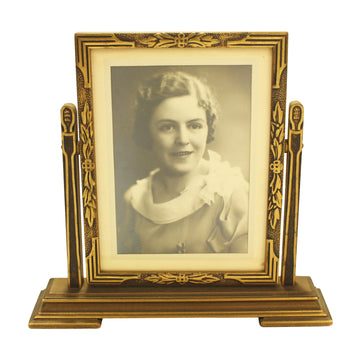 Lady in Cheval Frame