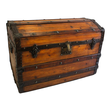 Wooden Dome Top Trunk