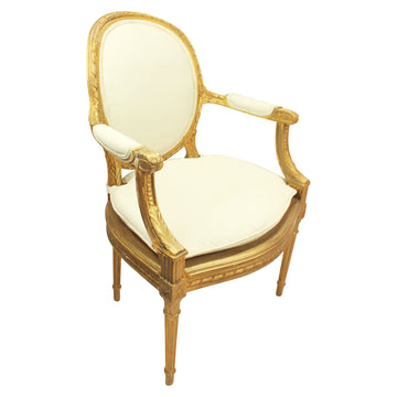 Gold Bergere Chair