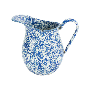 Blue Speckled Pitcher