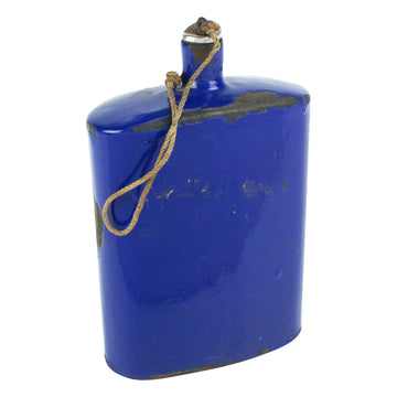 Blue Enamel Flask