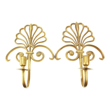 Brass Wall Sconce Candlesticks