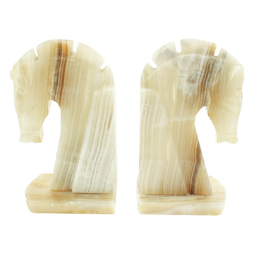 Marble Horse Bookends