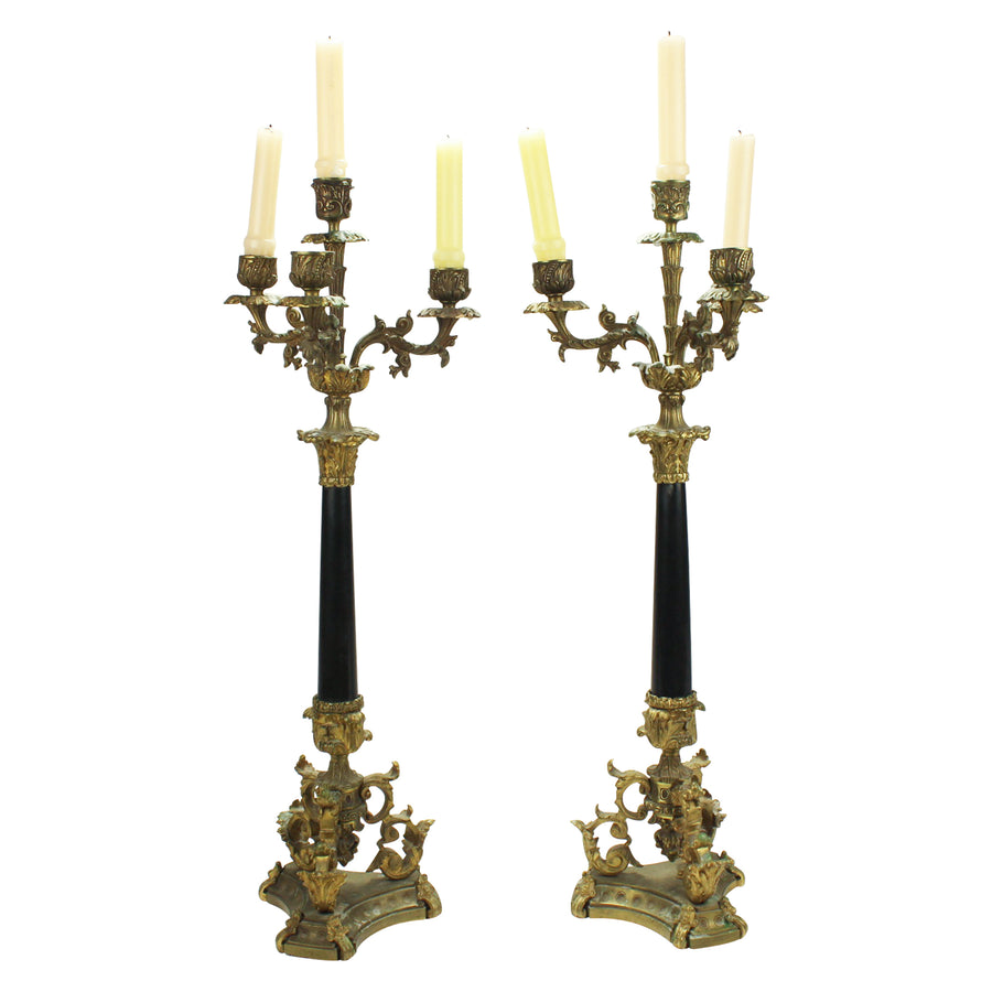 Tall brass Candelabras