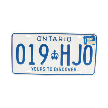 License Plates (ON)