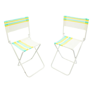 Folding Striped Mesh chairs