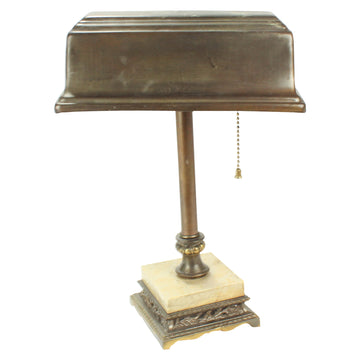Desk lamp with marble base