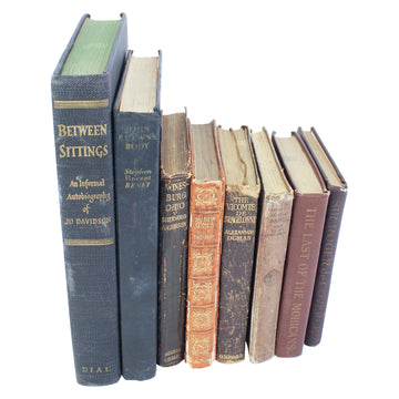 Black + Brown Clothbound Books