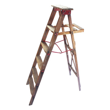 Red metal ladder