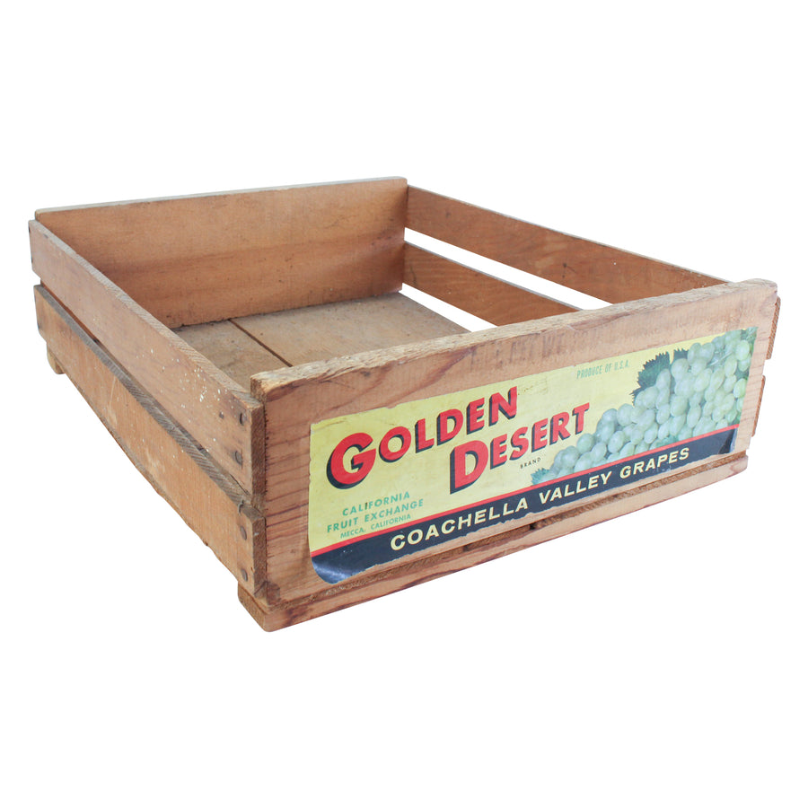 Golden desert crate