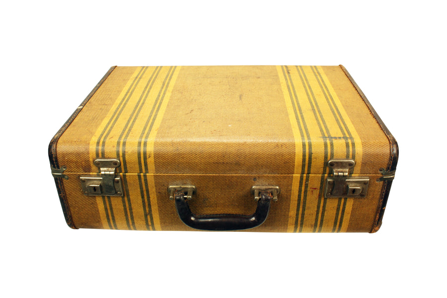 Striped suitcase