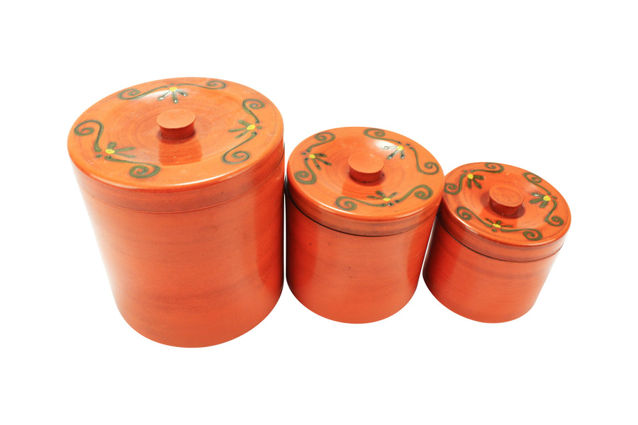 Orange Canister Set
