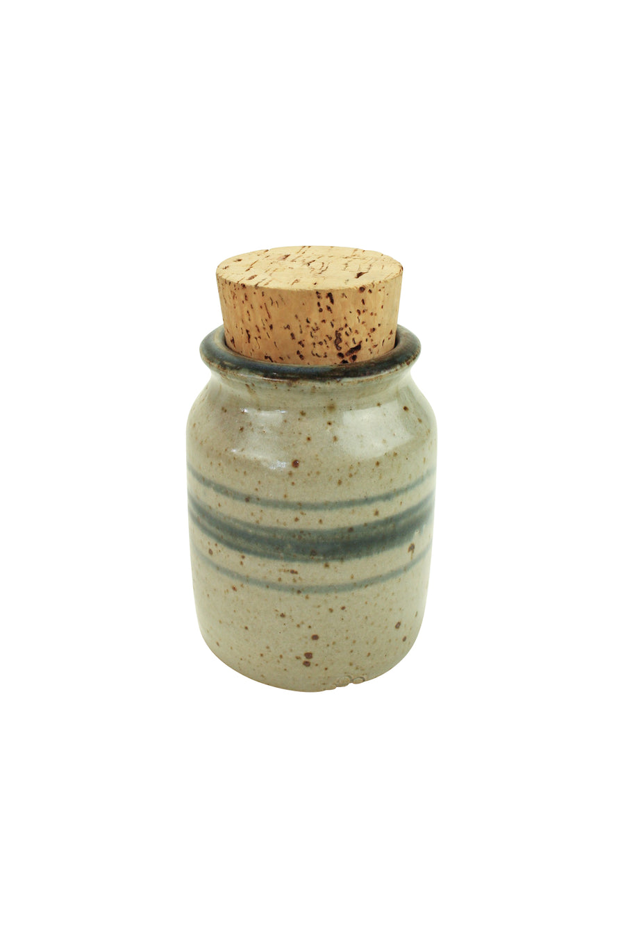 Pottery Jar With Cork Lid