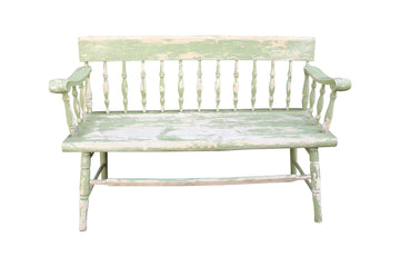 Weathered Wooden Bench