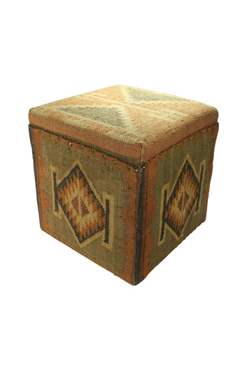 Carpeted Ottoman