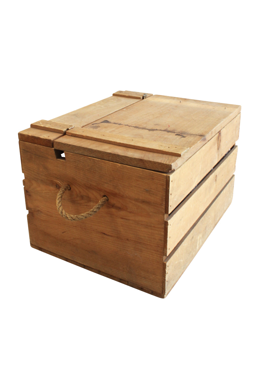 Slotted Crate With Rope Handles