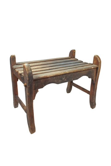 Rustic Slotted Bench