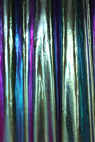 Iridescent Blue Disco Curtain