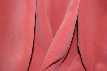 Coral Pink Velvet Curtain