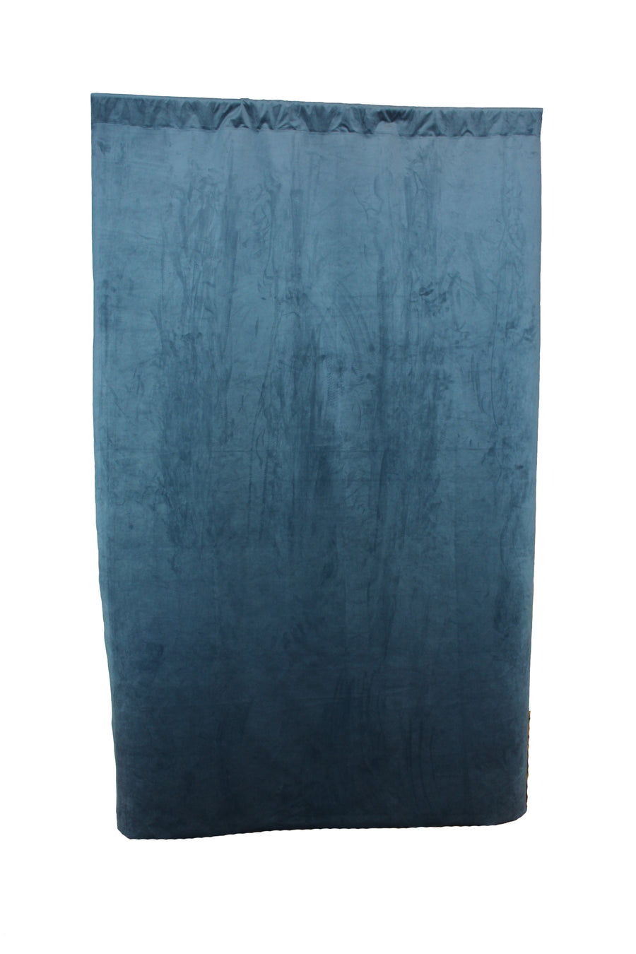 Faded Denim Velvet Curtain