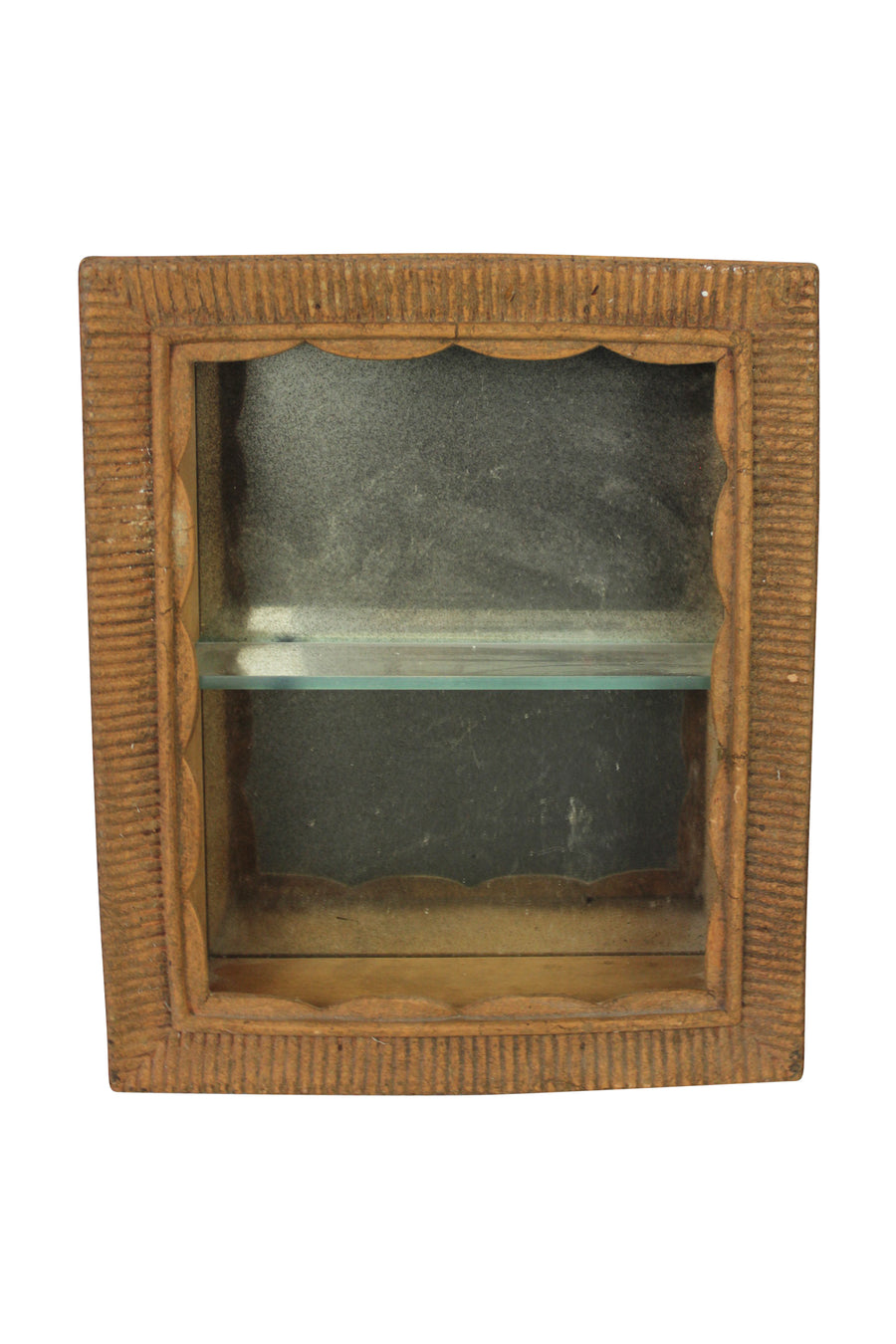 Rustic Mirrored Shelf