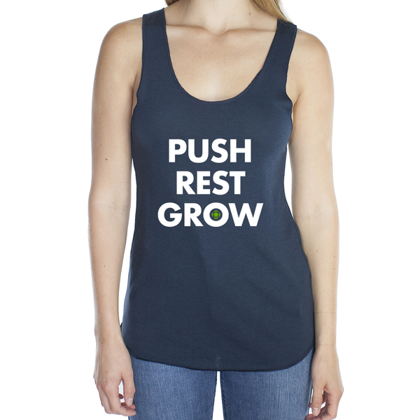 Push Rest Grow - Women's Racerback Tank
