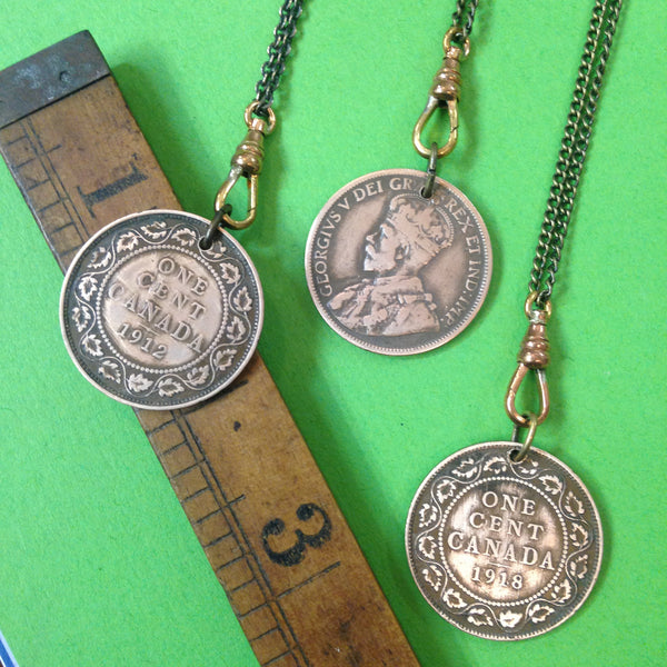 Vintage Canadian Penny Necklace