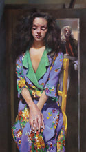 Load image into Gallery viewer, The Painter with Anna Navas – 'Anna in Purple Dress'. 1991