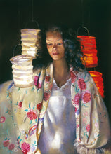 Load image into Gallery viewer, Anna with paper lanterns. 1996