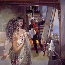Load image into Gallery viewer, The Painter with Anna (III) - white shawl. 1993