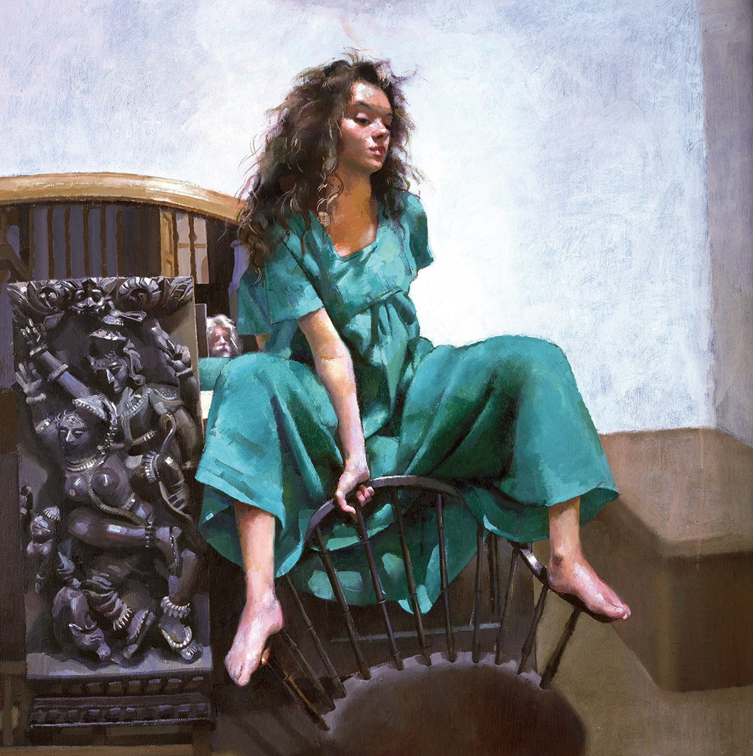 The Painter with Anna (IV) - green dress. 1993